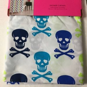 Betsey Johnson 72 x 72 skull curtain